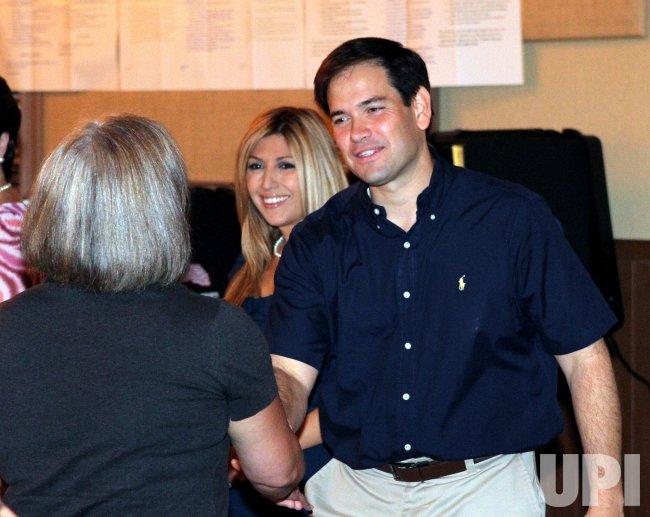 Florida senatorial candidate Marco Rubio casts his vote in Miami