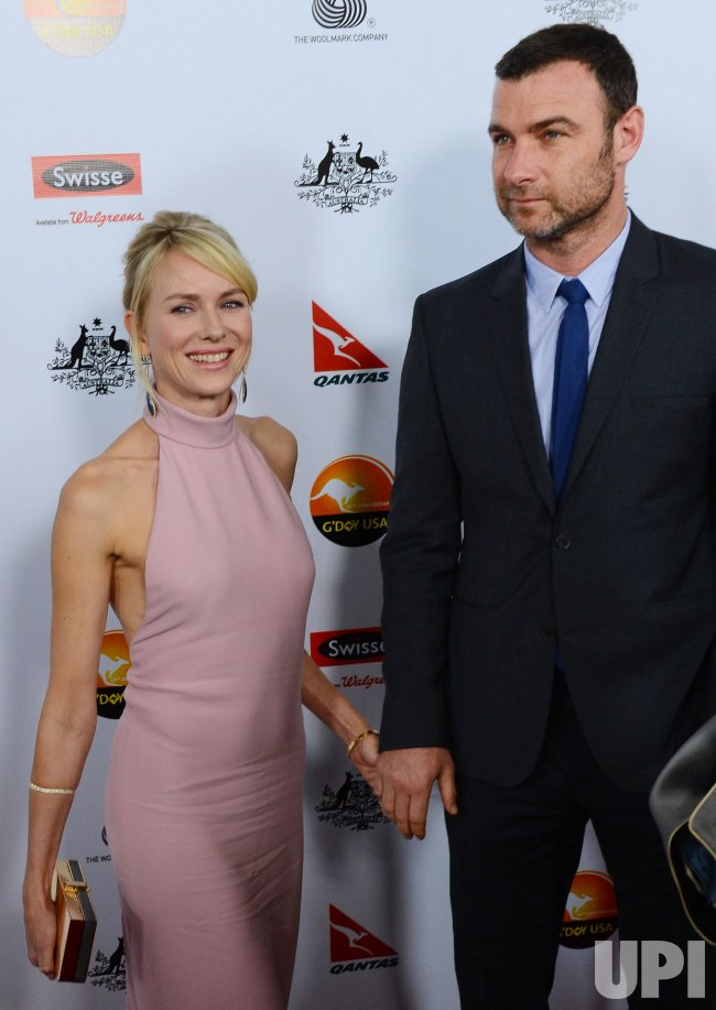 Naomi Watts and Liev Schreiber attend G'Day USA gala in Los Angeles