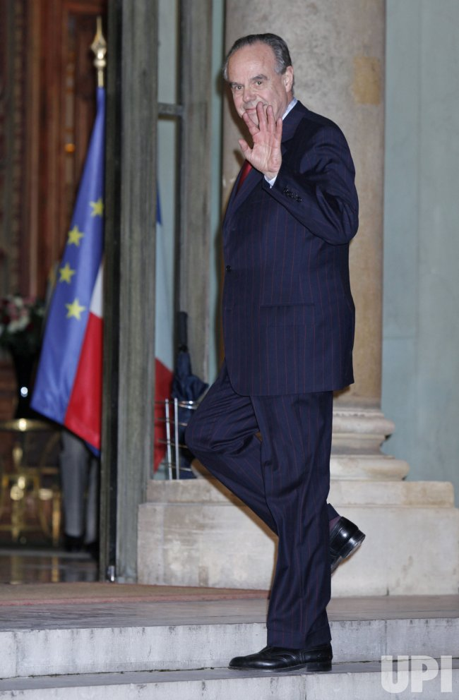 Frederic Mitterrand arrives at the Clint Eastwood French