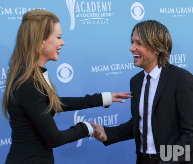 Nicole Kidman and Keith Urban arrive at the ACM Awards in Las Vegas