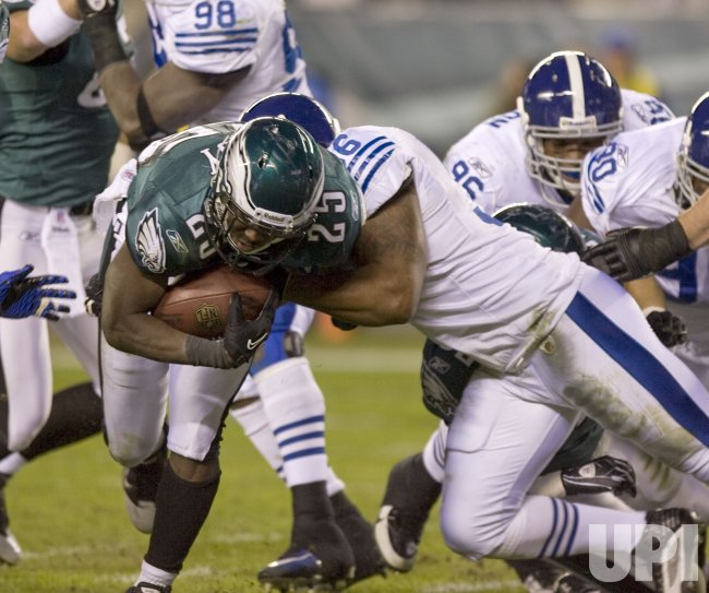 Philadelphia Eagles McCoy is brought down on the 6-yard line in the second quarter