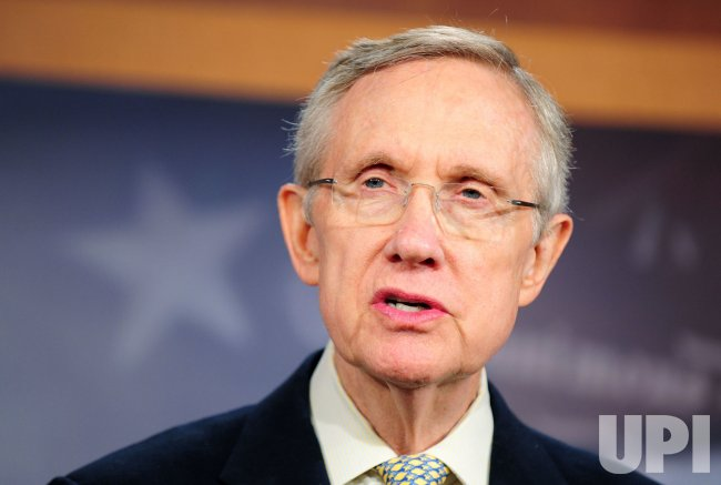 Leader Reid speaks to the media on debt ceiling negotiations in Washington