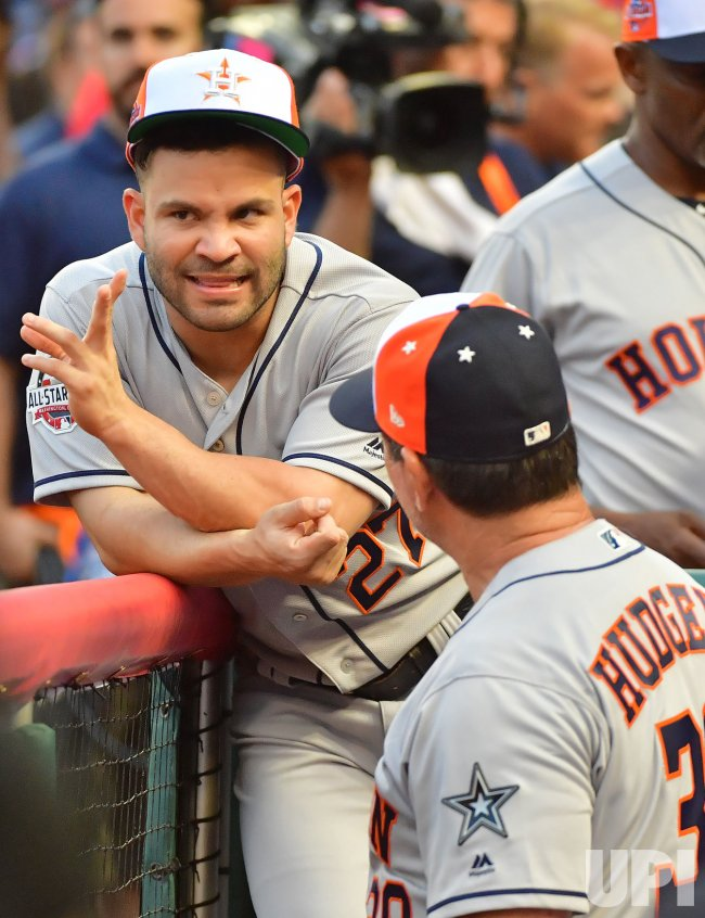 100% authentic 9eaf0 4516c Astros' Jose Altuve during MLB's All-Star Game in Washington ...