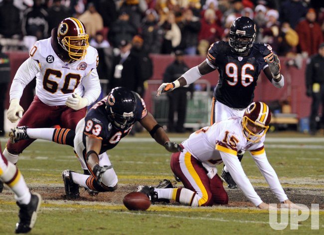 Chicago Bears at Washington Redskins NFL Football