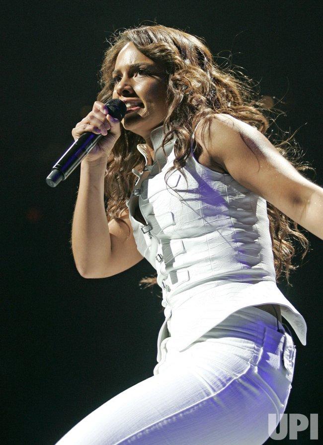 Alicia Keys performs in concert in Miami