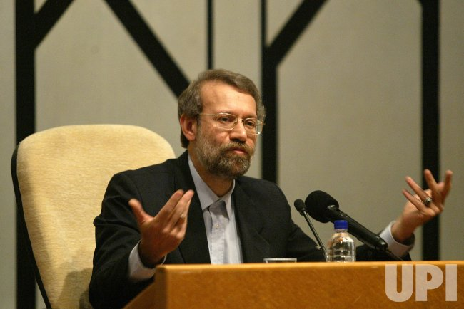 IRAN'S CHIEF NUCLEAR NAGOTIATOR ALI LARIJANI HOLDS A PRESS CONFERENCE IN TEHRAN