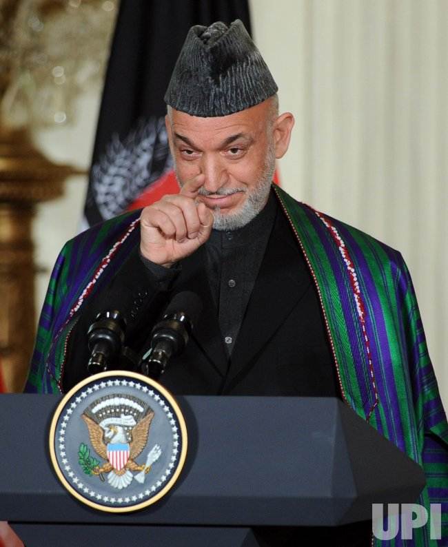President Obama meets with Afghan President Karzai at White House