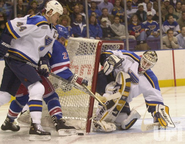 St. Louis Blues vs New York Rangers hockey