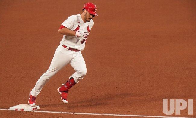 St. Louis Cardinals Nolan Arenado Hits Solo Home Run