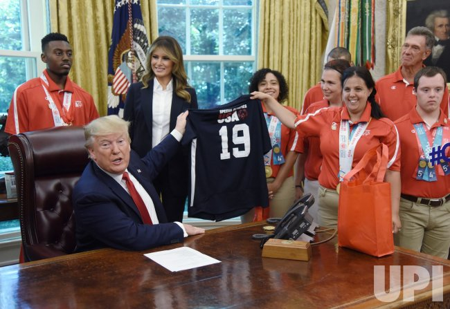 President Trump meets members of Team USA for the 2019 Special Olympics World Games
