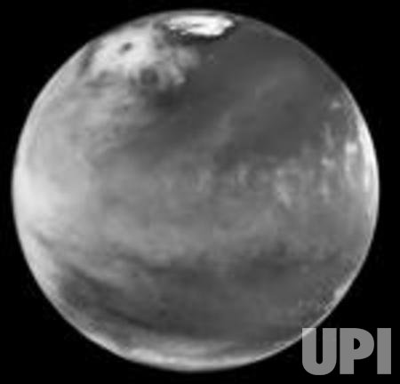 Scientists find huge ice storm on Mars