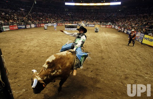 Brian canter competes at the 2010 professional bull riders - Bull riding madison square garden ...