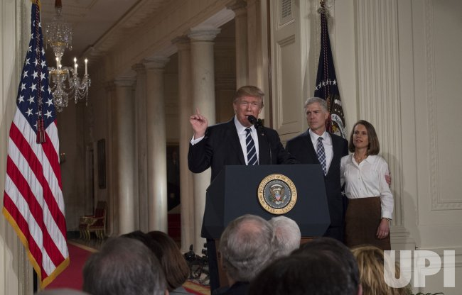 President Trump announces federal appellate judge Gorsuch as his nominee for Supreme Court of the United States