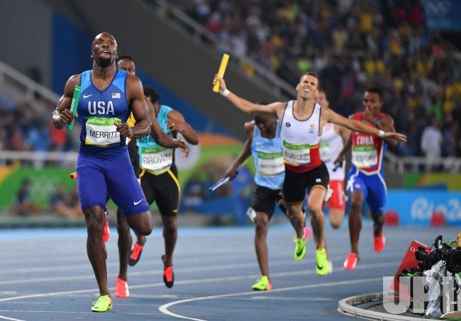 Lashawn Merritt of the United States wins gold at Rio Olympics