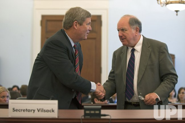 Agriculture Secretary Tom Vilsack testifies on the American Recovery and Reinvestment in Washington