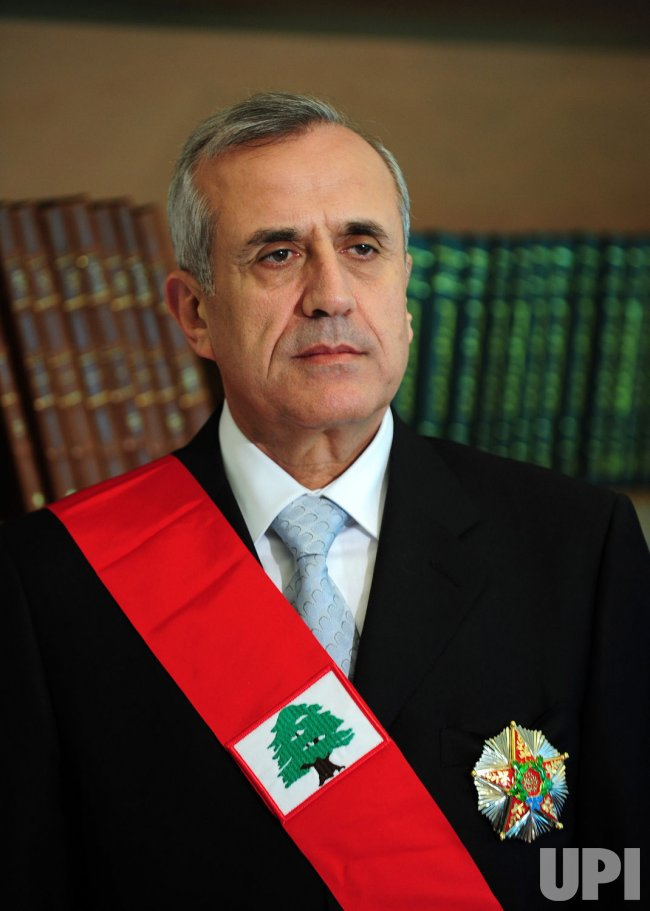 Lebanese President Michel Suleiman takes office