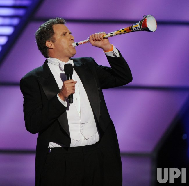 Will Ferrell blows a vuvuzela horn at the 2010 ESPY Awards in Los Angeles