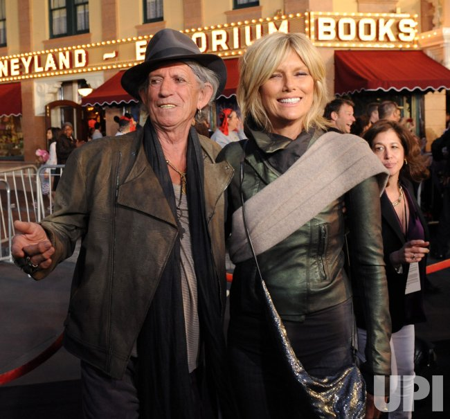 "Keith Richards and Patti Hansen attend the ""Pirates of the Caribbean: On Stranger Tides"" premiere in Anaheim, California"