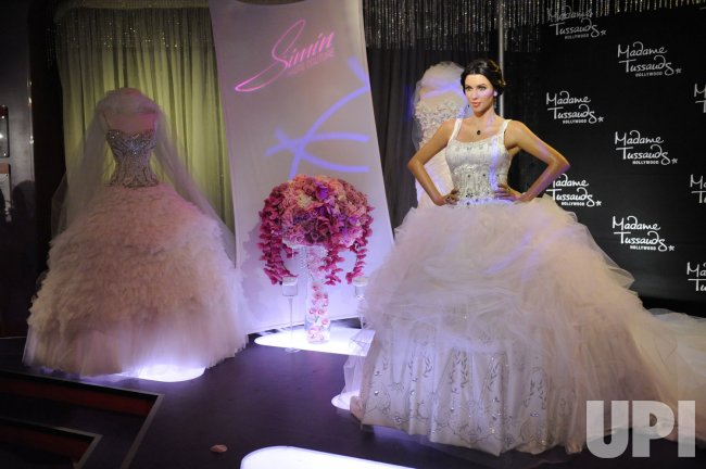 Kim Kardashian in wedding dress wax figure unveiled at Madame Tussaud's in Hollywood