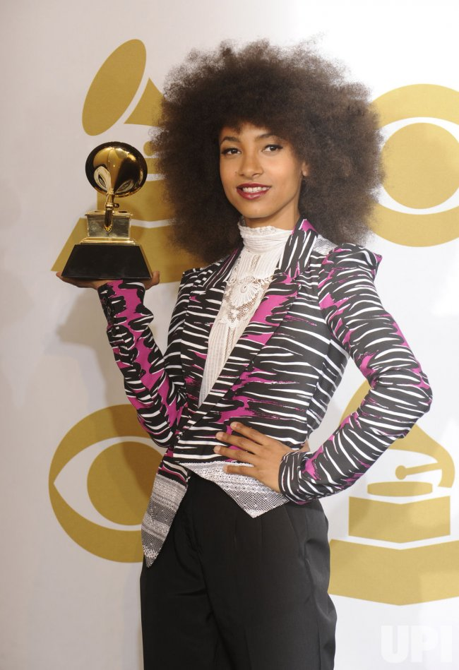 Esperanza Spalding wins Best New Artist at the 53rd Grammy Awards in Los Angeles