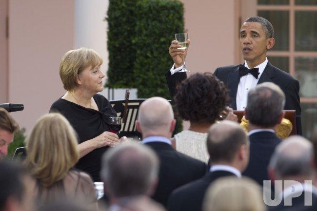 President Obama hosts German Chancellor Angela Merkel at State Dinner in Washington