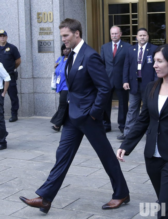 New England Patriots Tom Brady and NFL Commissioner Roger Goodell enter Manhattan Federal Court