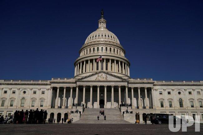 Casket of late U.S. Representative John Lewis departs the U.S. Capitol in Washington