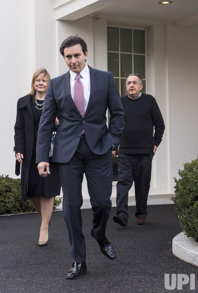 Auto Executives leave the White House