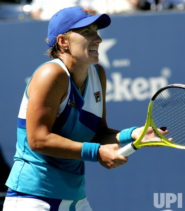 Svetlana Kuznetsova and Dominika Cibulkova compete at the U.S. Open in New York