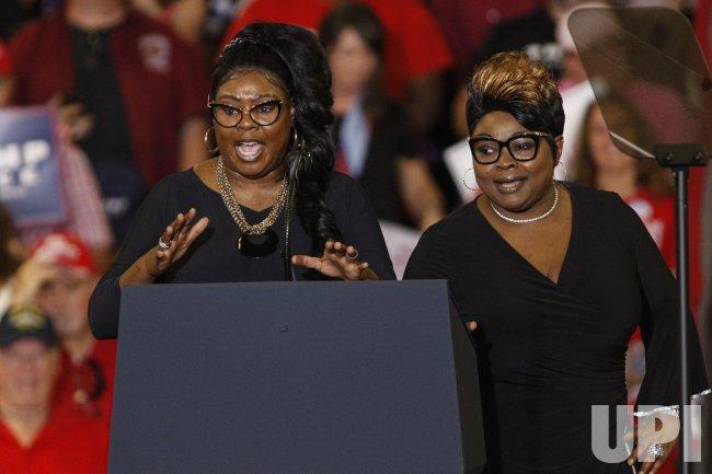 Diamond and Silk speaks at Trump rally in Fayetteville, North Carolina