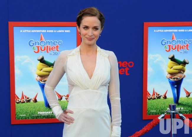 """Emily Blunt attends the """"Gnomeo & Juliet"""" premiere in Los Angeles"""