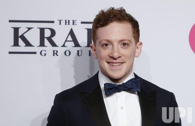 Ethan Slater at the Elton John AIDS Foundation Benefit