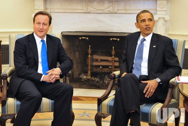 Obama Meets BRitish PM Cameron at White House