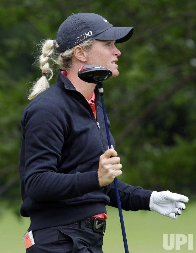 Suzann Pettersen in the third round of the Wegmans LPGA Championship at Locust Hill Country Club in New York
