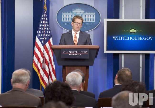 Press Secretary Jay Carney daily Press Briefing in Washington, D.C.