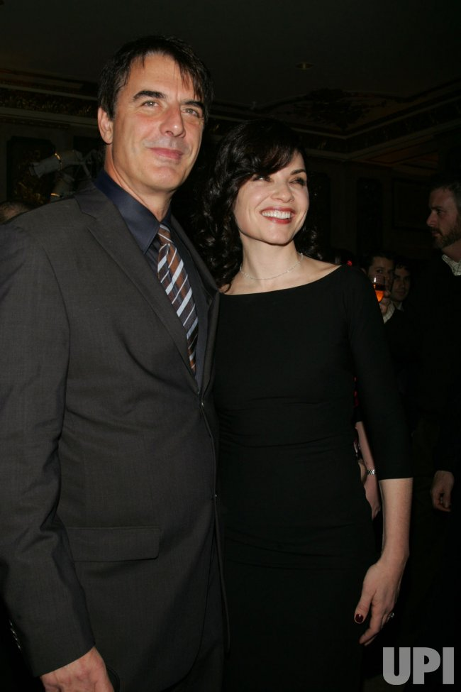 Chris Noth and Julianna Margulies arrive for the New York Stage and Film's Annual Gala in New York
