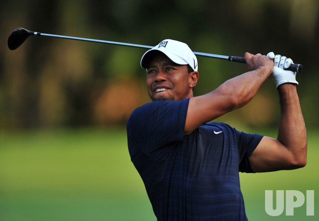 Tiger Woods hits during the TPC Players in Florida