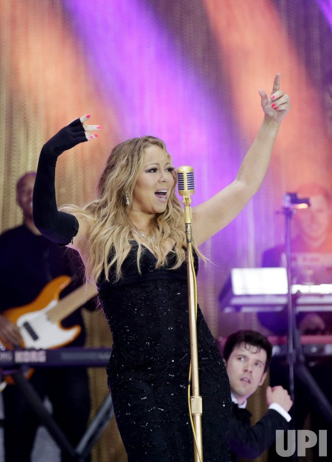 Mariah Carey performs on the NBC Today Show in New York