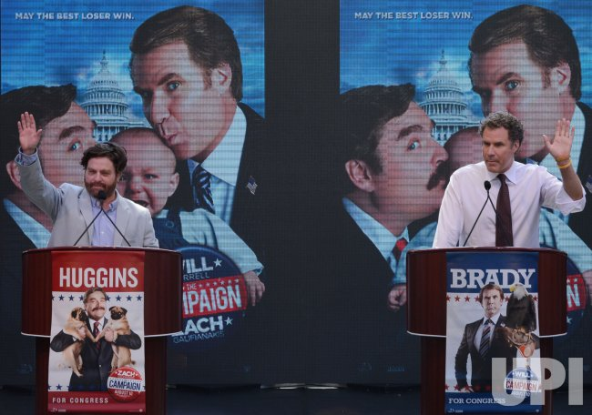 "Zach Galifianakis and Will Ferrell launch ""The Campaign"" Whistle Stop Tour in Los Angeles"