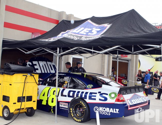 Jimmie Johnson's car at the NASCAR AdvoCare 500 in Hampton, Georgia