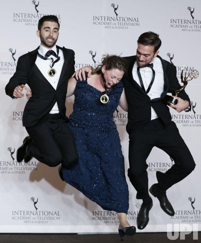 Stephane Kaas at the 46th International Emmy's