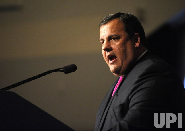 New Jersey Governor Chris Christie speaks at the Ronald Reagan Presidential Library in Simi Valley, California