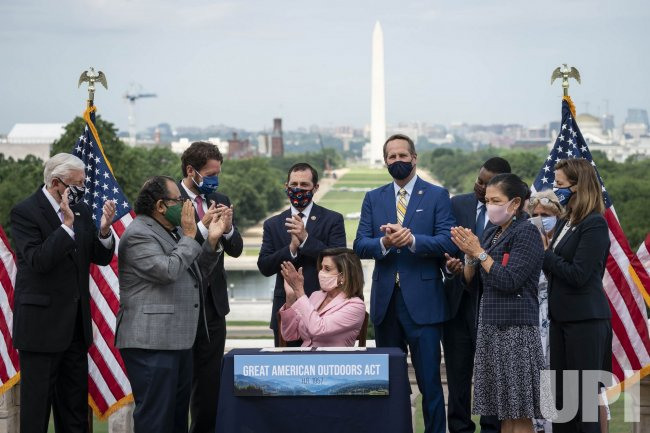 Nancy Pelosi Signs the Great American Outdoors Act