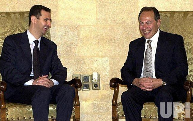 Lebanese President Emile Lahoud and Syrian President Bashar al-Assad