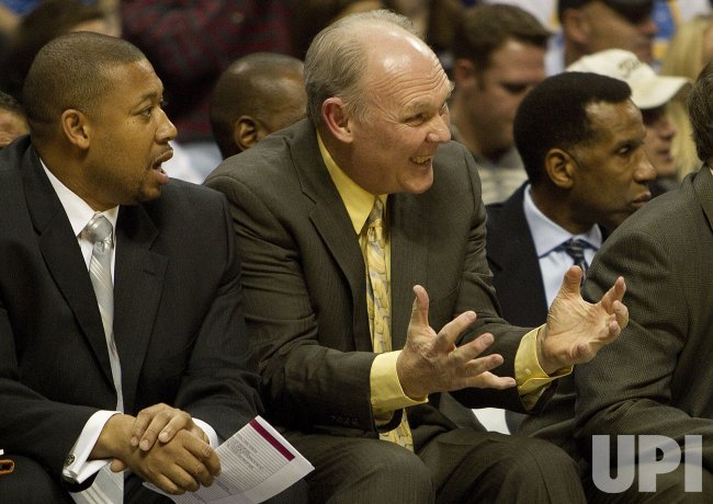 Nuggets Head Coach Karl Reacts in Denver