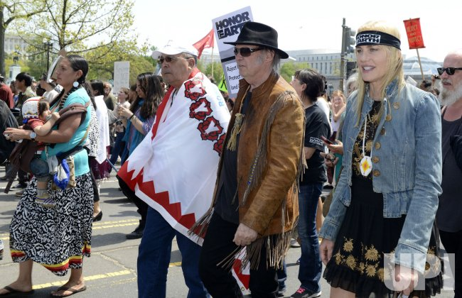 Ranchers, farmers, Native Americans join environmentalists to protest the Keystone XL pipeline in Washington