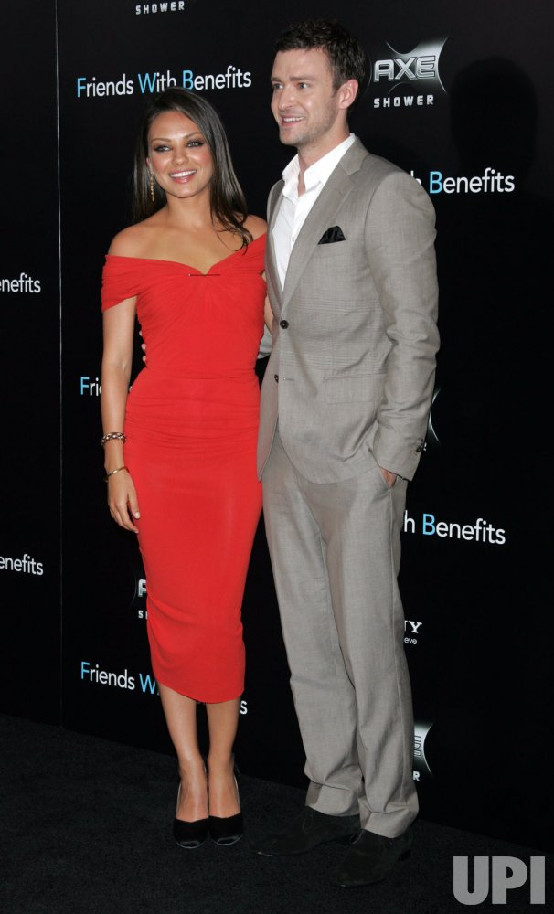 "Mila Kunis and Justin Timberlake arrive for the ""Friends With Benefits"" Premiere in New York"