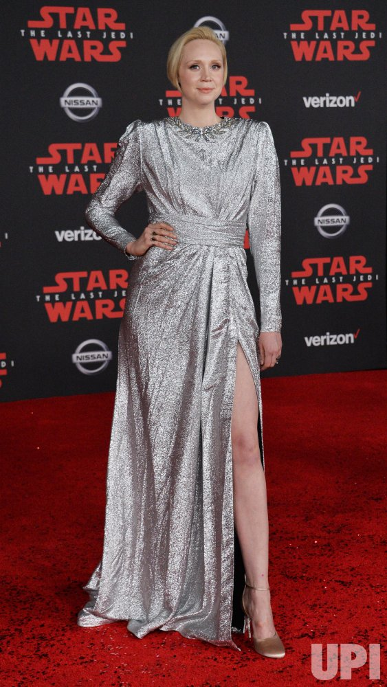 "Gwendoline Christie attends the ""Star Wars: The Last Jedi"" premiere in Los Angeles"