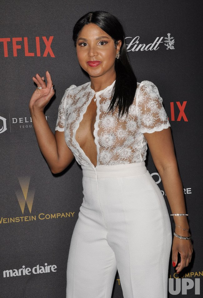 Toni Braxton arrives at the Weinstein Company & Netflix 2016 Golden ...