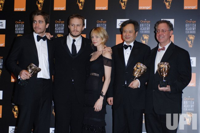 "CAST FROM BROKEBACK MOUNTAIN AT ""ORANGE BRITISH ACADEMY FILM AWARDS"""